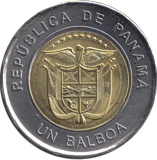 PANAMA SET 8 UNC 1 BALBOA 2018 2019 BI-METALLIC COINS