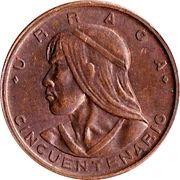 1 Centésimo (Cincuentenario) – obverse