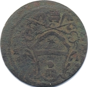 ½ Baiocco - Clement XI – obverse