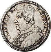 1 Piastra - Clemente XI (DONA NOBIS PACEM - St. Clement) – obverse