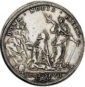 1 Piastra - Clemente XI (DONA NOBIS PACEM - St. Clement) – reverse