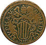 1 Baiocco - Benedict XIV – obverse