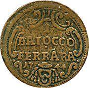 1 Baiocco - Benedict XIV – reverse