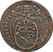 2 Baiocchi - Pius VI (PERVSIA AVGVSTA) – obverse