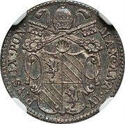 5 Baiocchi - Pio IX (900 Silver) – obverse