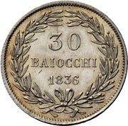 30 Baiocchi - Gregorio XVI – reverse