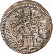 1 Quattrino - Clement XII (St. Peter - head) – obverse