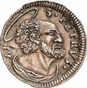 1 Quattrino - Clement XII (St. Peter - head) – reverse
