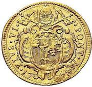 1 Zecchino - Pius VI – obverse