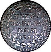 ½ Baiocco - Benedict XIV – reverse