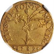 30 Paoli, 1 Doppia D'oro - Pius VI – obverse