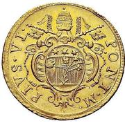 2 Zecchini - Pius VI – obverse