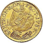 2 Zecchini - Pius VI – reverse