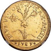 2 Doppie D'oro, 60 Paoli - Pius VI – obverse