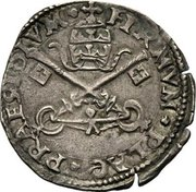 Mezzo Giulio - Adriano VI – obverse