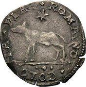 ½ Giulio - Adriano VI – reverse