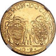 2 Doppie D'oro, 60 Paoli - Pius VI – reverse