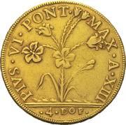 4 Doppie D'oro - Pius VI – obverse