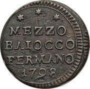 ½ Baiocco – obverse