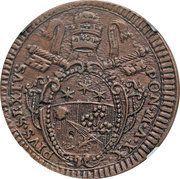 1 Baiocco - Pius VI – obverse