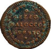 ½ Baiocco - Pius VI – reverse