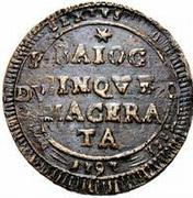5 Baiocchi - Pius VI – obverse