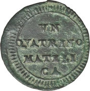 1 Quattrino - Pius VI – reverse