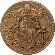 ½ Baiocco - Pio IX (Oval shield) – obverse