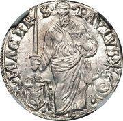 1 Giulio - Paul III (St. Paul) – reverse