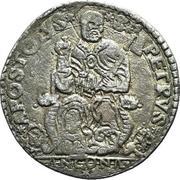 1 Testone - Gregory XIII – reverse