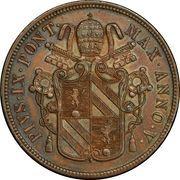 5 Baiocchi - Pio IX (Larger shield) – obverse