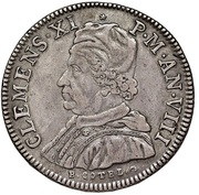 1 Piastra - Clement XI (St. George) – obverse