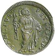 1 Quattrino - Clement XII (St. Peter - standing) – reverse