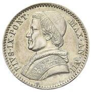 20 Baiocchi - Pio IX (800 Silver - Closed wreath) – obverse