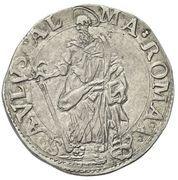 1 Testone - Paul V (St. Paul) – reverse