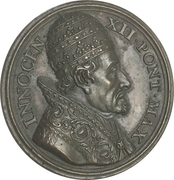 Medal - Innocent XII (Opening of the holy door at the Saint Peters Basilica) – obverse