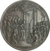 Medal - Innocent XII (Opening of the holy door at the Saint Peters Basilica) – reverse