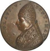Medal - Niccolò V. (Restitution medal of the Paladino series) – obverse