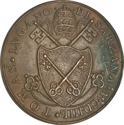 Medal - Niccolò V. (Restitution medal of the Paladino series) – reverse