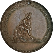 Medal - Clement V (Restitution of the Pope's) – reverse