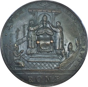 Medal - Adrian VI (Coronoation of the pope) – reverse