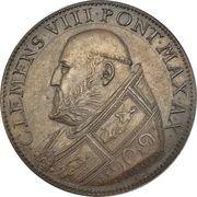 Medal - Clement VIII (Salva nos domine) – obverse