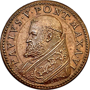 Medal - Paul V (Efforts by the Pope in Conservation of Works of Art) – obverse
