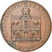 Medal - Gregory XV (Laying of the foundation stone Church of St. Ignazio) – obverse
