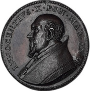Medal - Innocent X (holy year 1650) – obverse