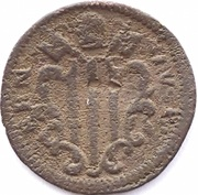 1 Quattrino - Benedict XIV (St. Ubaldo, crosier right) – reverse