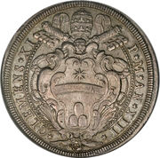 1 Piastra - Clemente XI (FONTIS ET FORI ORNAMENTO - Piazza) – obverse