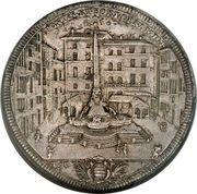 1 Piastra - Clemente XI (FONTIS ET FORI ORNAMENTO - Piazza) – reverse