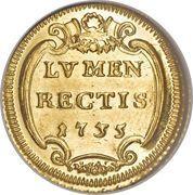 1 Scudo d'Oro - Clemente XII (LVMEN RECTIS) – reverse