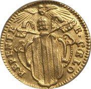 ½ Zecchino - Benedetto XIV (REPENTE DE CAELO - Holy Mother Church) – obverse